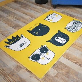 防滑线条猫波普地毯地垫