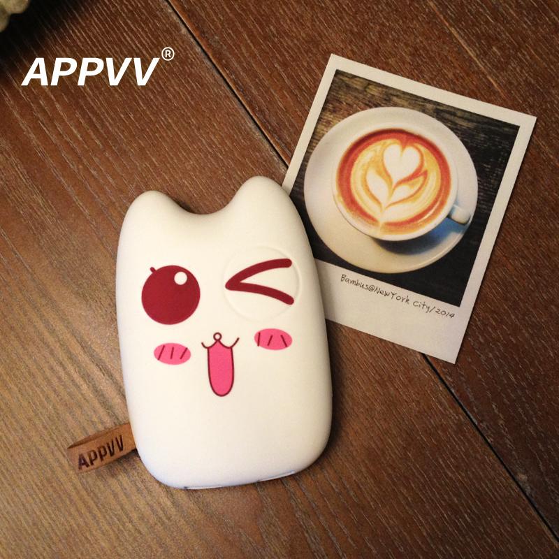 appvv创意卡通可爱手机充电宝通用迷你便携iphone