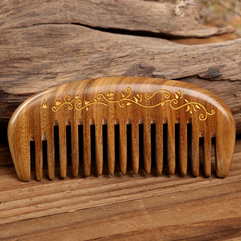 静电脱发随身便携檀香木头
