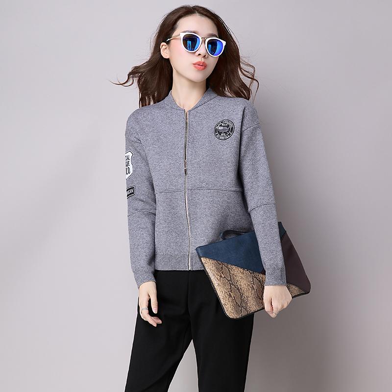 2017春装新款女外套时尚短款新春女装时尚新款小开衫毛衣百搭针织