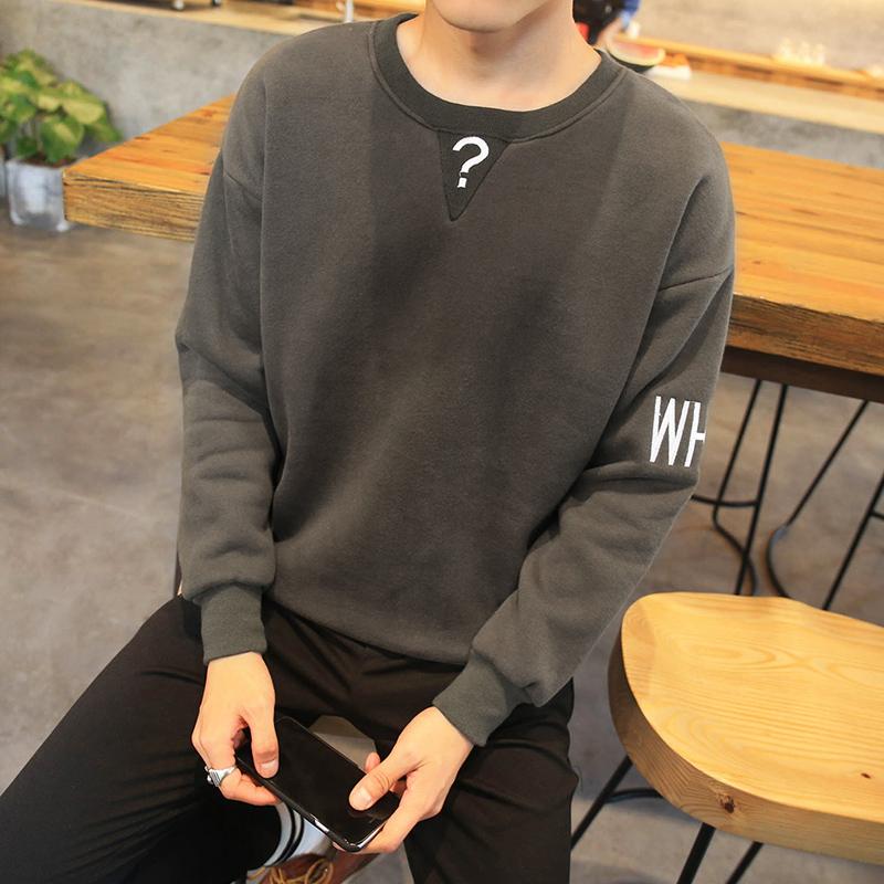 拓古骑士秋季新款男士卫衣男圆领青少年学生潮流韩版衣服男生外套