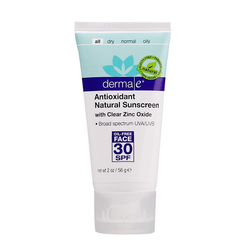 Derma E/德玛依天然面部防晒霜SPF30保湿嫩白隔离遮瑕乳防紫外线