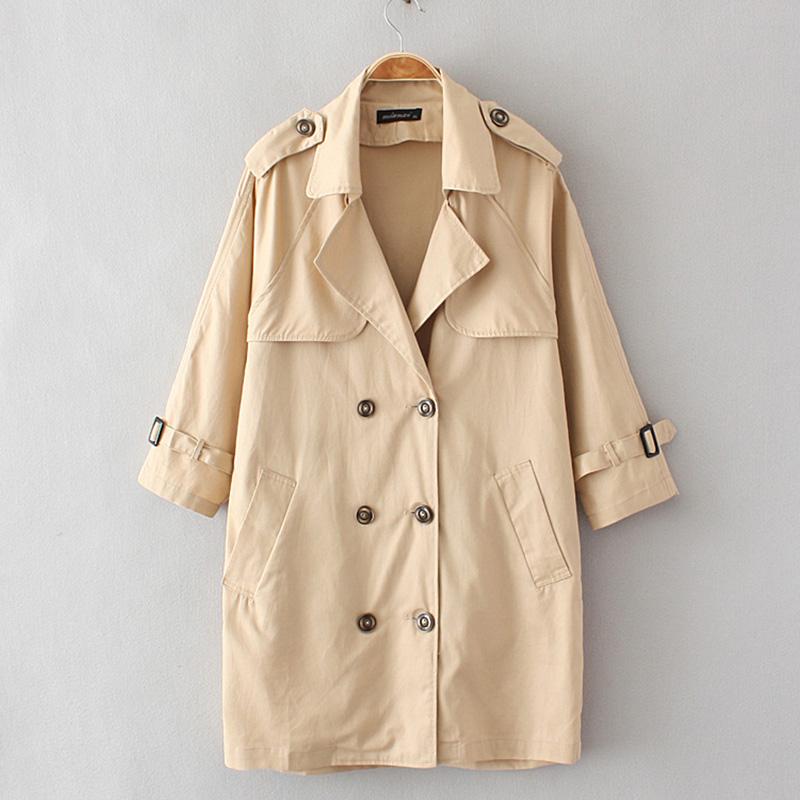 加肥加大码女装春装风衣200斤胖mm中长款长袖开衫宽松韩版外套女