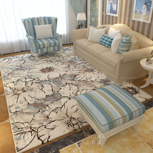 现代简约茶几地毯客厅满铺卧室床边毯房间欧式美式大