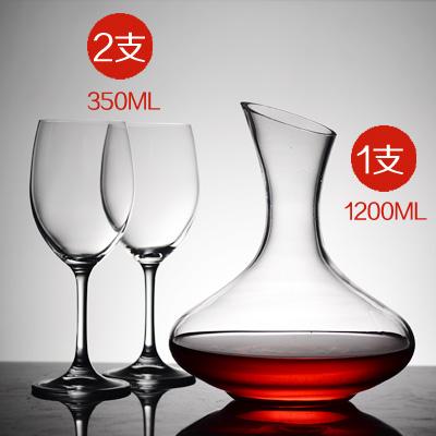 水晶加厚高脚杯红酒杯套装大号红酒玻璃杯无铅家用葡萄酒杯6支装