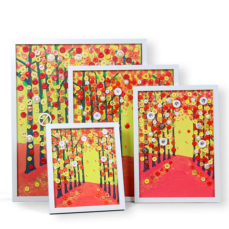 纽扣画儿童手工益智diy创意材料包含相框裱框装饰