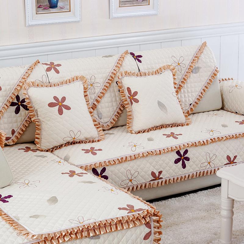 四季沙发垫欧式简约布艺沙发套客厅实木组合沙发巾子