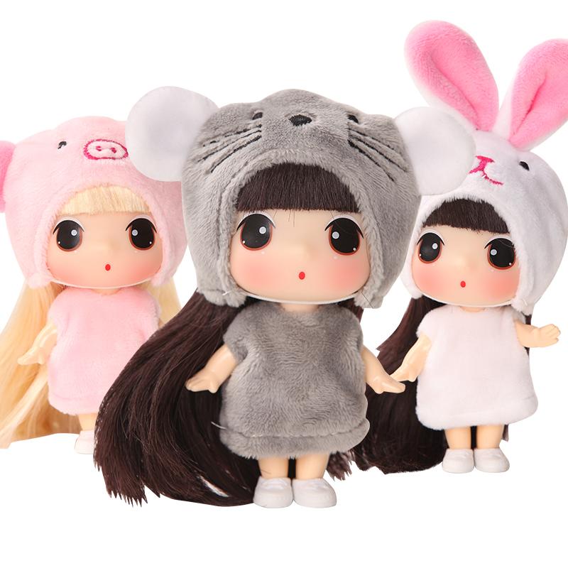 ddung冬己十二生肖 迷糊洋娃娃女孩儿童毛绒换装玩具