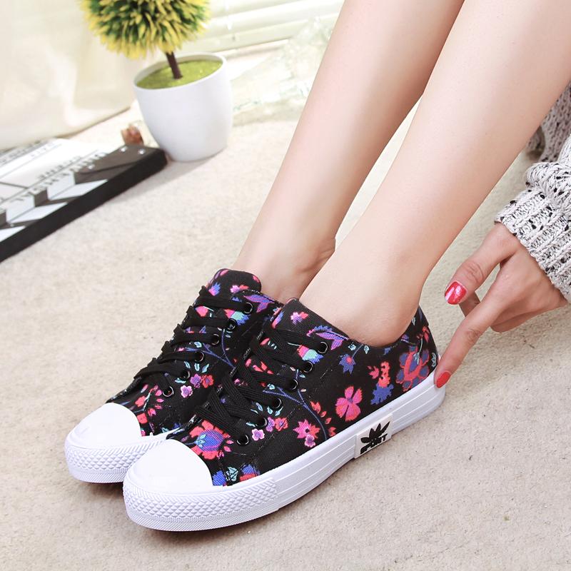 新款低帮帆布鞋森女系经典休闲鞋圆头系带平底鞋学生女鞋子