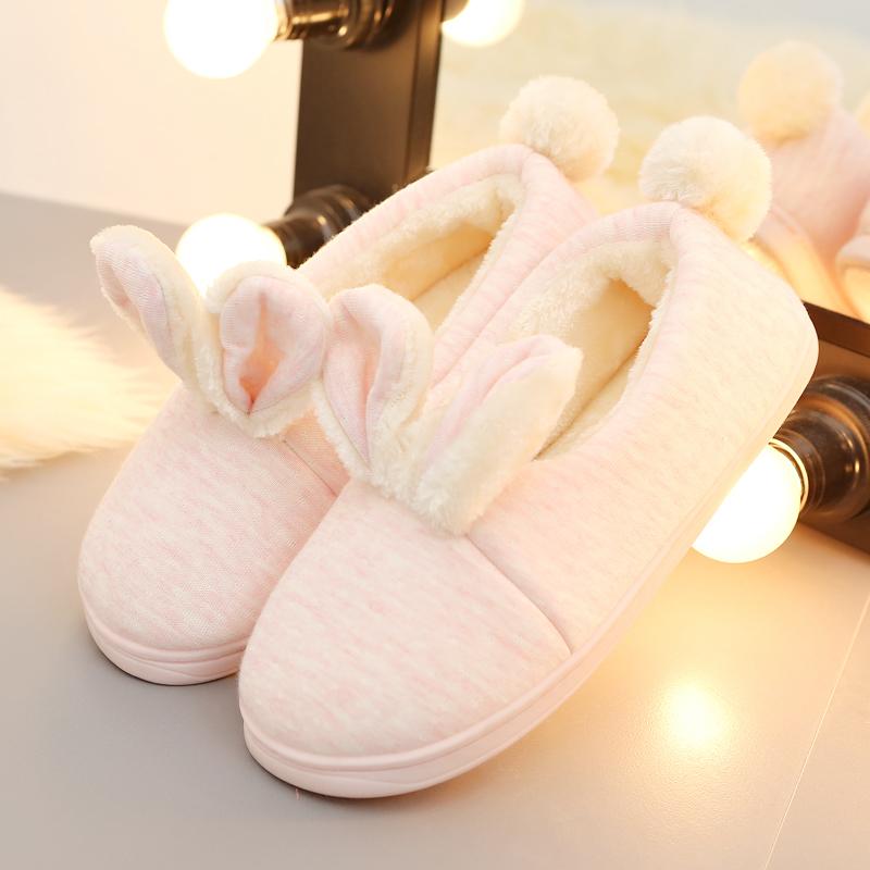 冬季可爱棉拖鞋女士室内家居家用保暖防滑时尚卡通包
