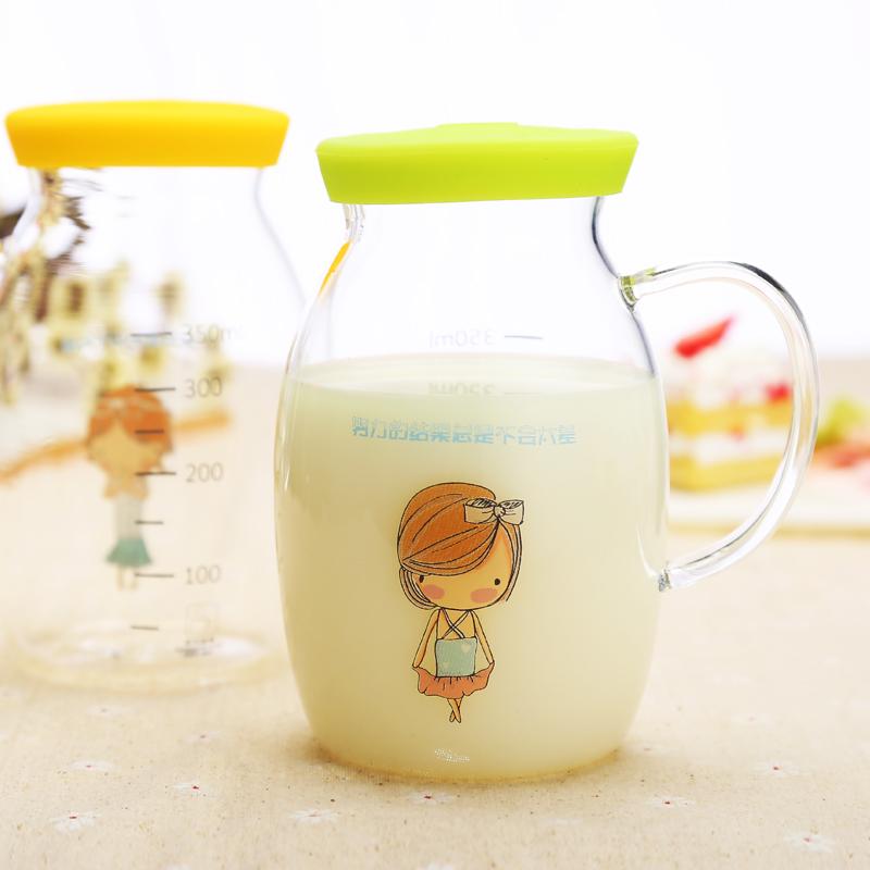 【天天特价】创意可爱儿童水杯微波加热牛奶杯带把杯