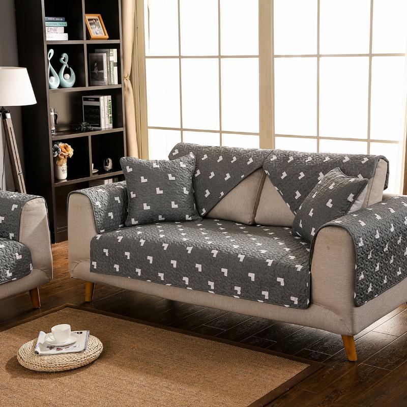 全棉欧式沙发垫简约现代布艺沙发套四季防滑坐垫组合