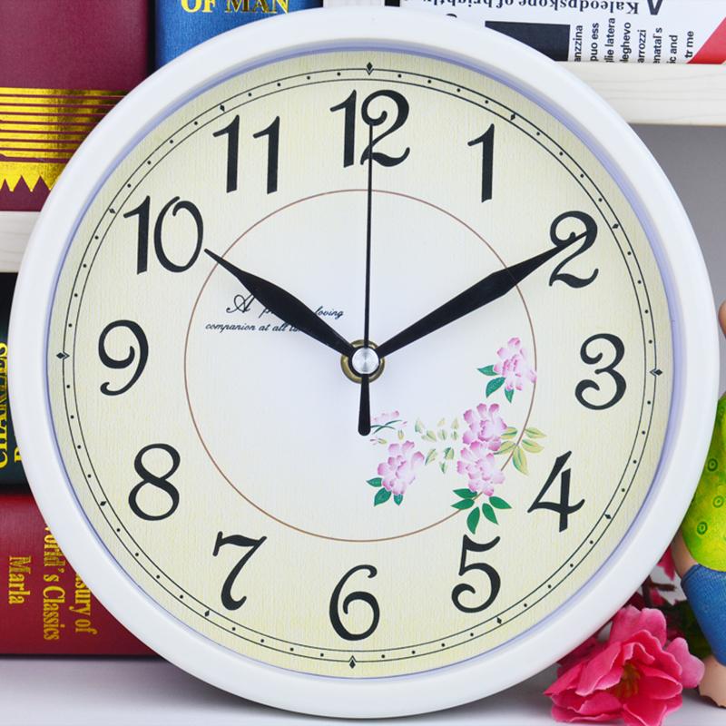 铂晨欧式静音挂钟客厅卧室办公时钟简约时尚挂表现代
