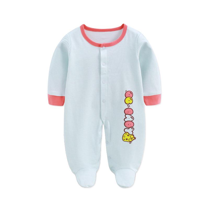 【领券满100减50】婴儿包脚连体衣新生儿衣服初生宝宝