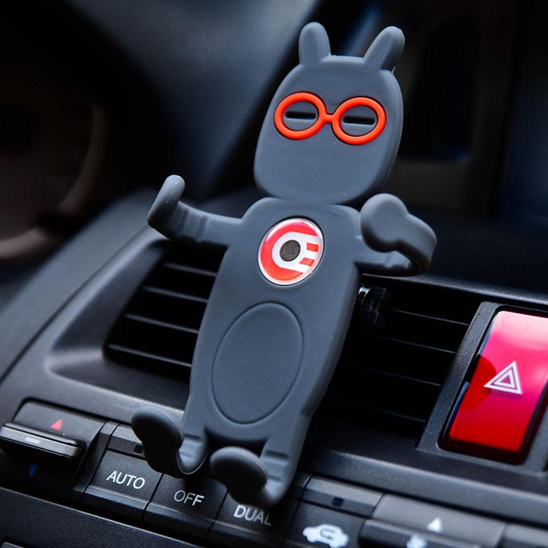 车载手机支架 汽车手机支架车用卡扣式出风口苹果