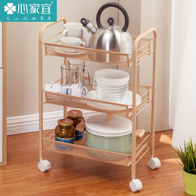 厨房置物架厨房用品置物架收纳架金属层架多