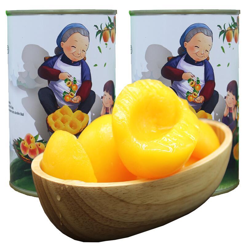 【同发私厨】新鲜黄桃罐头425g*6罐,券后【23.00元】包邮秒杀