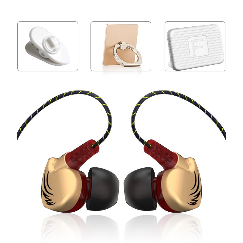 D3重低音通用耳机+手机指环,券后【9.80元】包邮秒杀