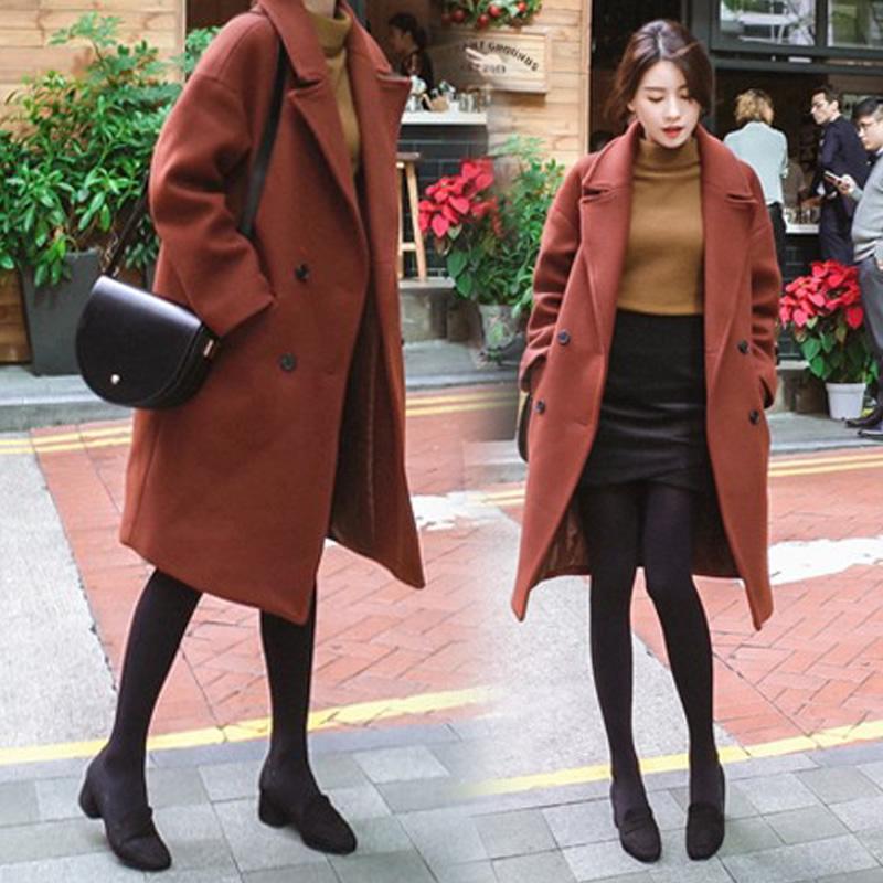 【梦幻魅力】韩版新款焦糖色呢子大衣,券后【148.00元】包邮秒杀