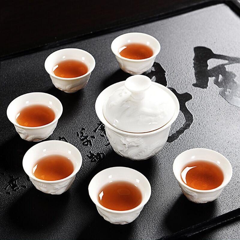 辉跃茶具套装家用陶瓷茶杯,券后7.80元包邮