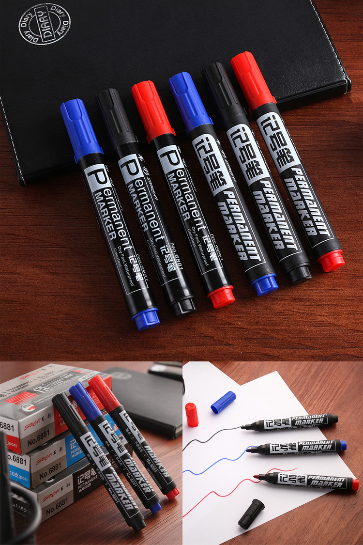油性马克笔勾线笔记号笔10只装,券后2.90元包邮