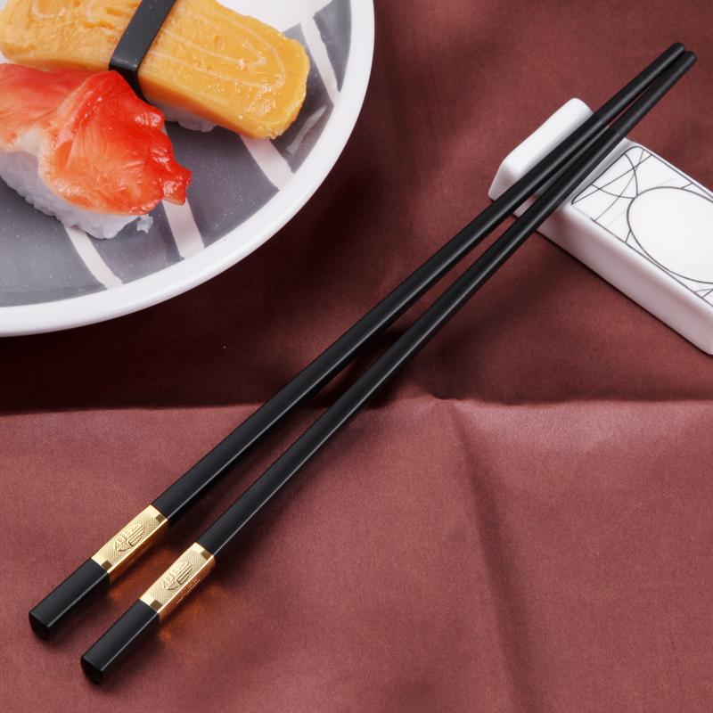 【创健】家用防滑合金筷子10双,券后14.90元包邮