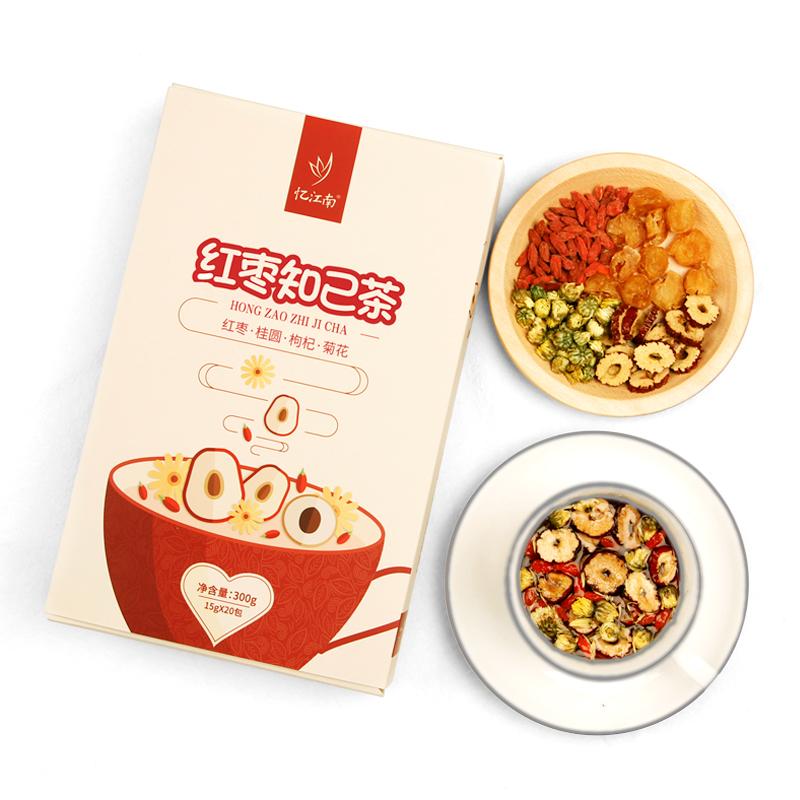 【忆江南】红枣桂圆枸杞茶120g10袋,券后【6.80元】包邮秒杀